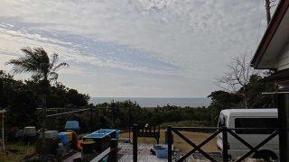 時間と共に雲は増え雨も降ってきていた1/17の八丈島