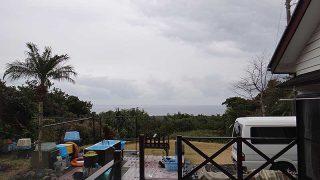 次第に雨足強まってグズついた空模様となっていた1/23の八丈島