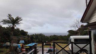 雲は広がり時折雨もパラついてきていた3/2の八丈島