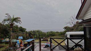 早めのうちは雨足強くグズついた天気となっていた3/8の八丈島