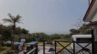 土砂降り雨が降ってはいたが次第に青空が広がっていた3/13の八丈島