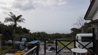 雲は増えるが青空見られ暖かな陽気が続いていた3/20の八丈島