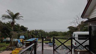 雨はそんなに降ってはこないが風は強まっていた3/21の八丈島