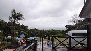 冷たい風で雨も降りグズついた天気となっていた4/10の八丈島