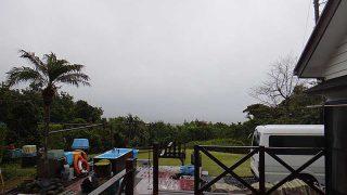 早めに雨は上がってくるが雲は多くもあった4/14の八丈島