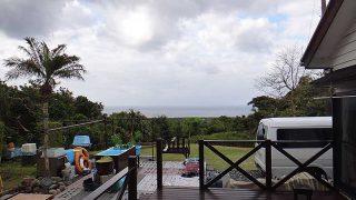 雲は多くて涼しくあるが青空も見られていた4/16の八丈島