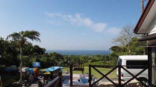 青空続き日中は暑いくらいの陽気となっていた4/21の八丈島