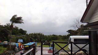 雲は多いが次第に青空増えてきていた4/6の八丈島