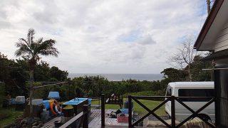 風は涼しくあるものの青空は広がってきていた4/7の八丈島
