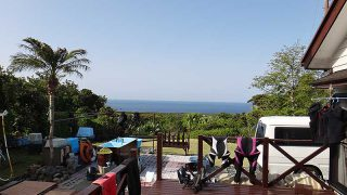 青空続き日中は暑いくらいの陽気となっていた5/4の八丈島