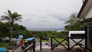 雲は広がり涼しくなって遅くなると雨も降りだしていた5/12の八丈島