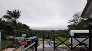 雲は広がり湿気っぽい天気が続いていた5/21の八丈島