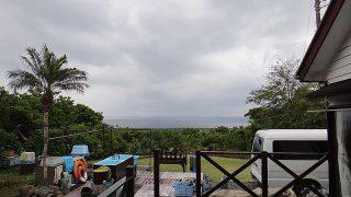 南寄りの風が吹き出して荒れた天気となってきていた5/27の八丈島