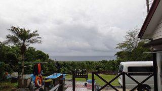 一時雨は降るものの明るい曇りとなっていた5/29の八丈島