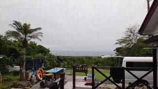 空には雲が広がるが風は弱まり穏やかな1日となっていた5/30の八丈島