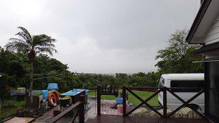 時折雨は降ってはくるが明るい曇りとなっていた6/3の八丈島