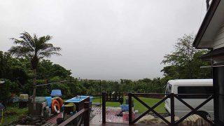 雨は降ったり止んだりのグズついた天気となっていた6/4の八丈島