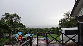 日中雨は降るものの静かな一日となっていた6/7の八丈島