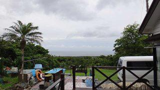 雲は広がり遅くなるほど雨もパラパラ降ってきていた6/16の八丈島