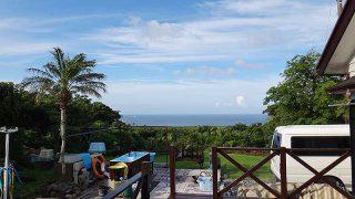爽やかな青空広がり過ごしやすい天気となっていた6/18の八丈島
