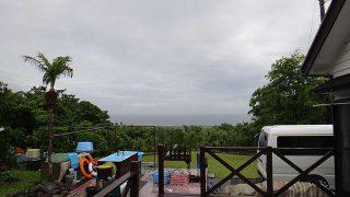 次第に雨は上がってくるが空には雲が広がっていた6/20の八丈島