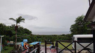 空には雲が広がり雨も降り続いていた6/22の八丈島