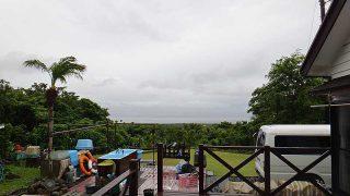 日中雨は降ってはいたが風は次第に弱まってきていた6/23の八丈島