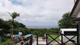 雲は多くはあるものの日中は青空も広がりだしていた6/30の八丈島
