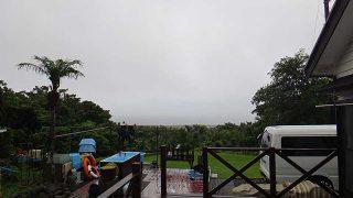雲は低くも降りてきてうグズついた天気が続いていた7/2の八丈島