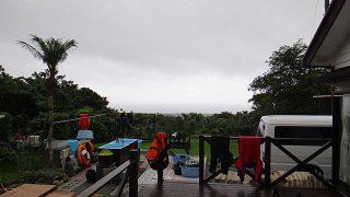 広がる雲は低くもあって空は暗くもなっていた7/7の八丈島
