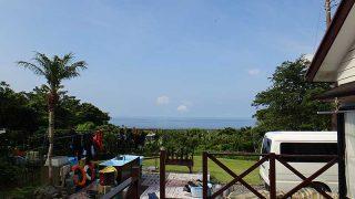 朝のうちは青空広がるが日中は雲が広がっていた7/14の八丈島