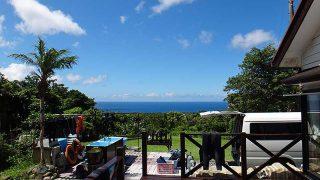 風は弱めで青空あって夏らしい陽気が続いていた7/21の八丈島
