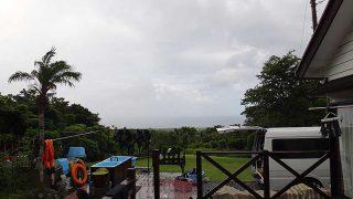 所によっては雨は降れども青空が広がってきていた7/26の八丈島