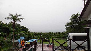 日中は風もそんなに吹いてはおらず明るい曇りとなっていた7/27の八丈島