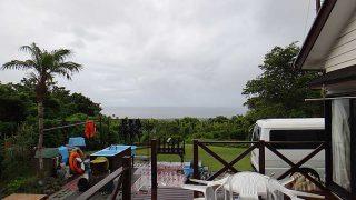 朝夕天気は崩れるものの日中は青空が広がっていた8/2の八丈島