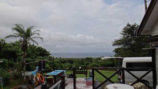 雲は広がり雨もパラつきグズつく空模様となっていた9/5の八丈島