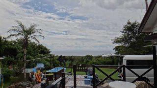 次第に雲は増えだし雨も降りだしてきていた9/14の八丈島