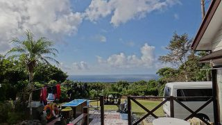 青空広がり日差しは強く暑さが戻ってきていた10/8の八丈島