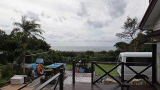 朝夕雨は降ってはいたが青空見られ暖かくなっていた10/21の八丈島