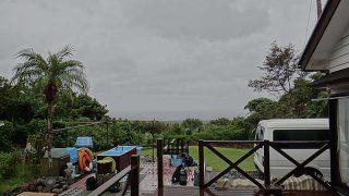 雨は降り続気温も上がらずさむくもなっていた10/22の八丈島