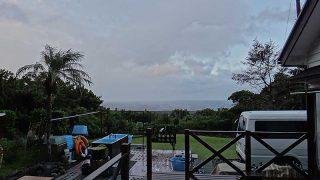 時間ともに風は弱まり青空も見られてきていた10/26の八丈島